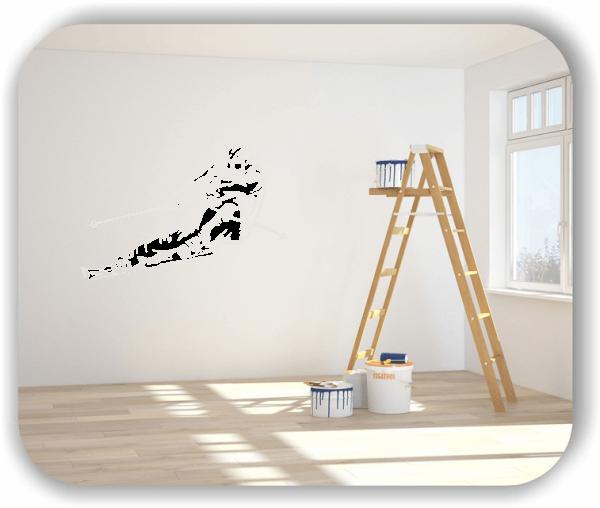 Wandtattoos Hobby - ab 50x34 cm - Skifahrer