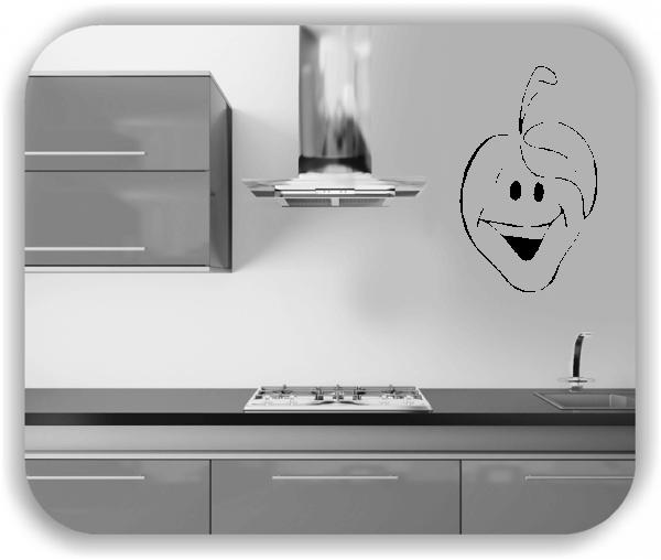 Wandtattoos Spruch Küche - Lachende Frucht