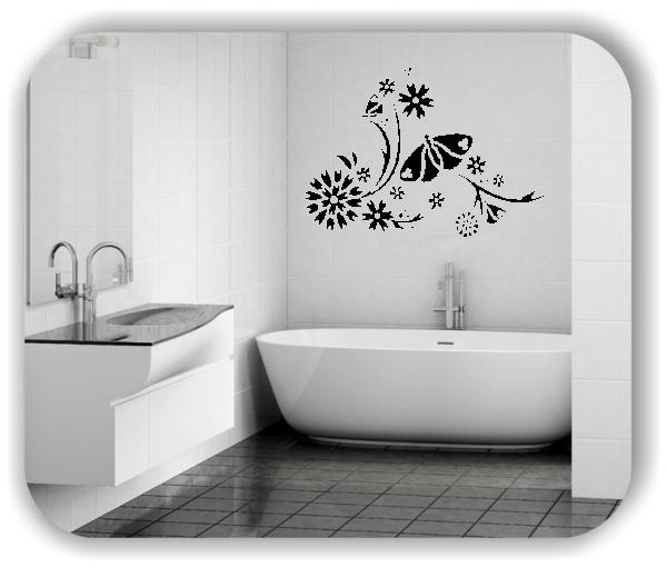 Ornamente China Floral - Wandtattoo - ab 50x35 cm - Motiv 3132