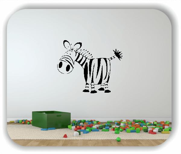 Wandtattoos Tiere - Witziges Zebra
