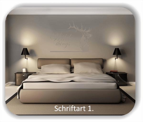 Wandtattoos - Sprüche & Zitate - Wild things