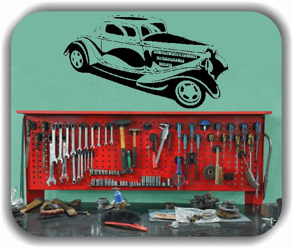 Wandtattoos Fahrzeuge - ab 50x28 cm - Oldtimer Hot Rod