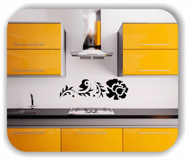 Ornamente China Floral - Wandtattoo - ab 50x17 cm - Motiv 3107