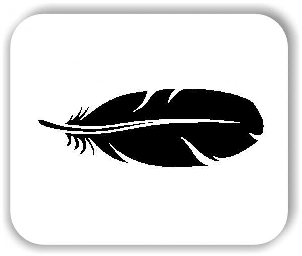 Feder Wandtattoo - VPE: 1 Stück - Motiv 3