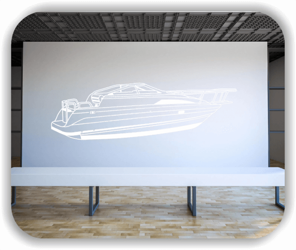 Hobby / Motiv Wandtattoos - ab 60x19 cm - Motorboot
