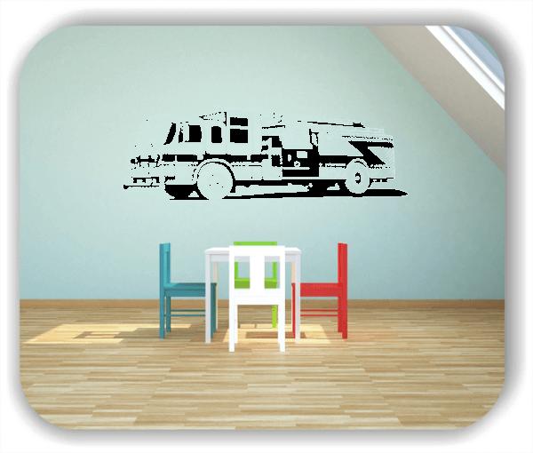 Hobby / Motiv Wandtattoos - ab 60x19 cm - Amerikanisches Feuerwehrauto