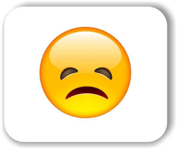 Strichgesicht - Emoticon - Enttäuschtes Gesicht