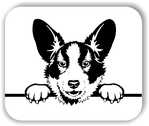 Wandtattoos Tiere - Hunde - Welsh Corgi Cardigan - ohne Rassename